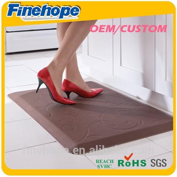 Kitchen Floor Mat PU Polyurethane Foam Waterproof Anti Fatigue Slip ...