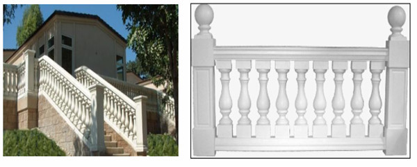 Stair Baluster PU rigid Polyurethane foam Balustrade Handrail OEM Customize Manufacturer