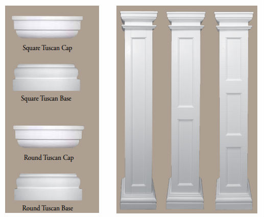 PU roman column capital & base molds for sale