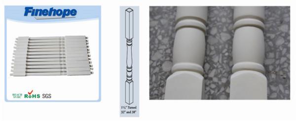 Banister Railing PU Polyurethane Railing Baluster Balustrade Handrail OEM Customize Manufacturer