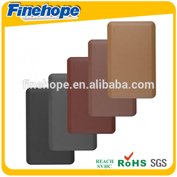 Hot sale good quality PU Integral Skin black yoga mat