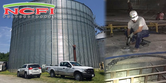 Grain Bin Settlement Problems Common to Concrete  Foundations Solved with NCFI's Geotechnical Polyurethane Foam Technology