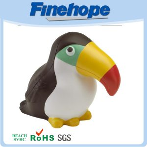 Very popular pu woodpecker stress ball cheap promotional items for kids