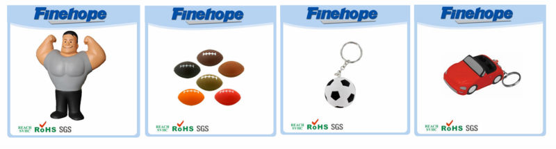 promotional key chain with stress ball