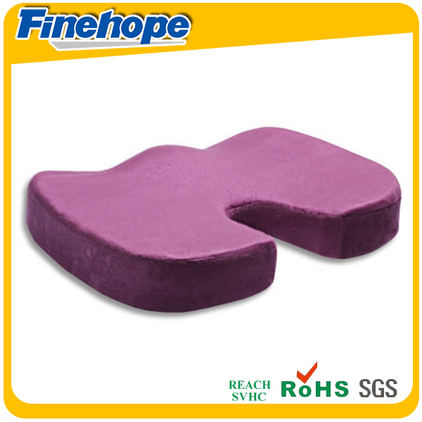 Slow recovery polyurethane velvet desk chair pad
