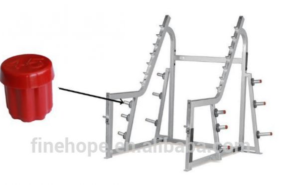 Weight lifting polyurethane exercise barbell stand