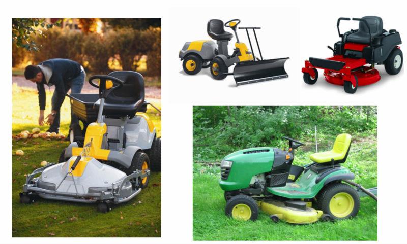 new design riding lawn mower seat