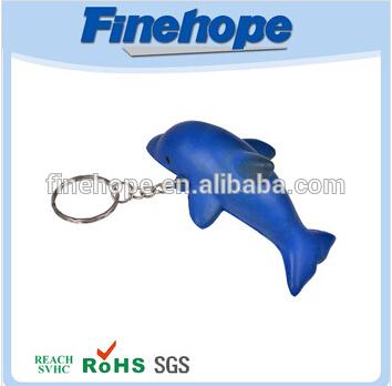 Unique design polyurethane toy fish keychain