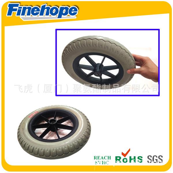塑料轮毂PU轮胎4