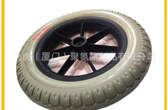 塑料轮毂PU轮胎3