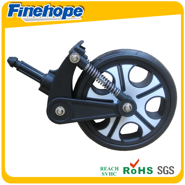 Anti-shock flat free tire modern design custom baby carriage wheel