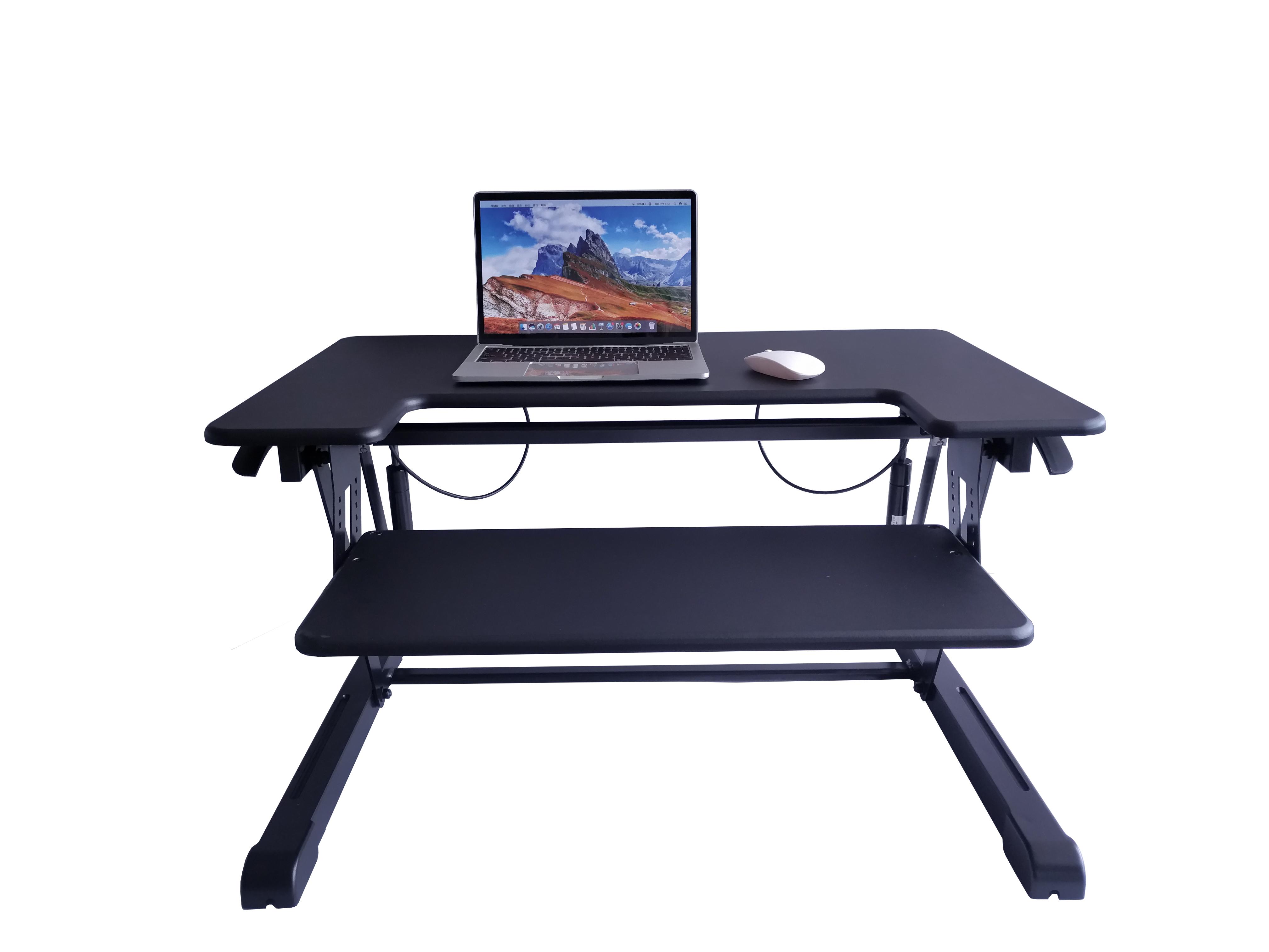 Standing Desk, Height Adjustable Stand Up Desk Gas Spring Riser Converter Sit to Stand Desk