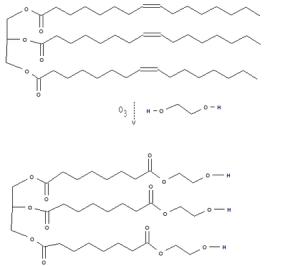 Ozonolysis of unsaturated triglyceride